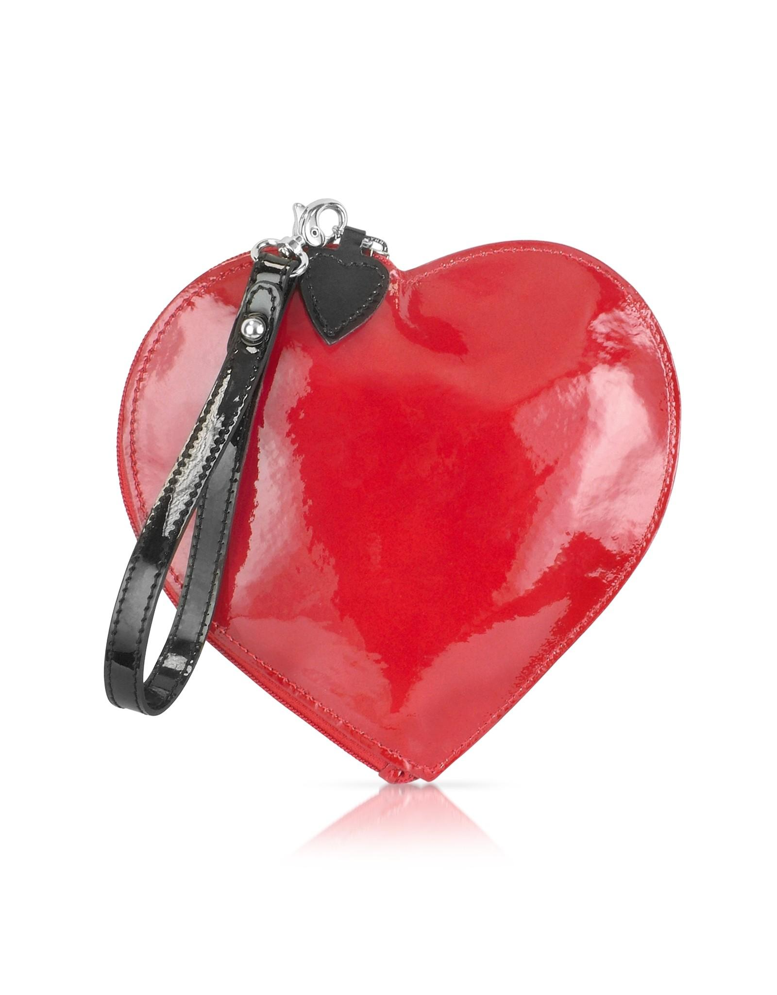 Fontanelli Patent Leather Heart Coin Purse Red Lyst
