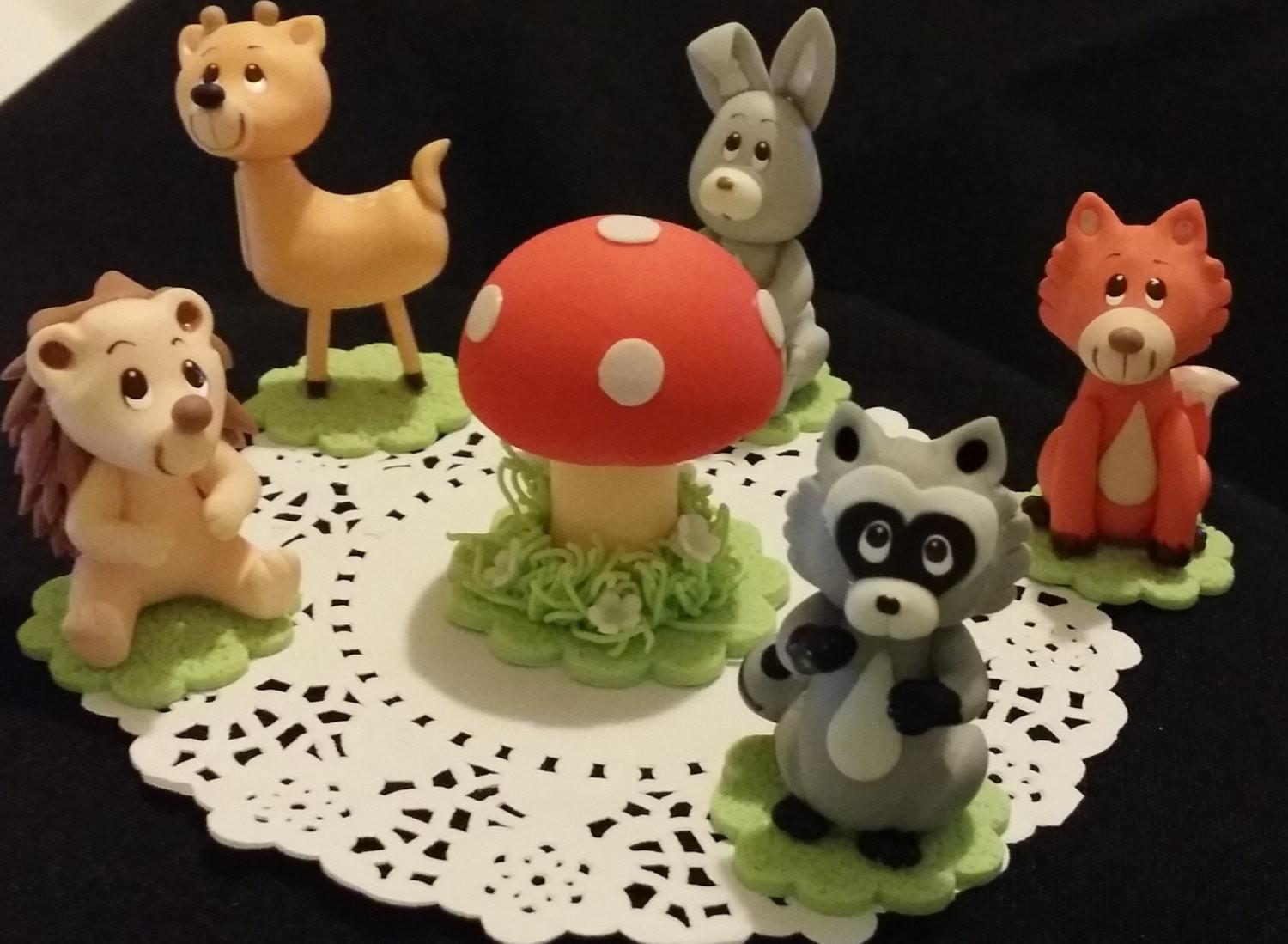 Forest Animals Woodland Cake Topper Baby Shower