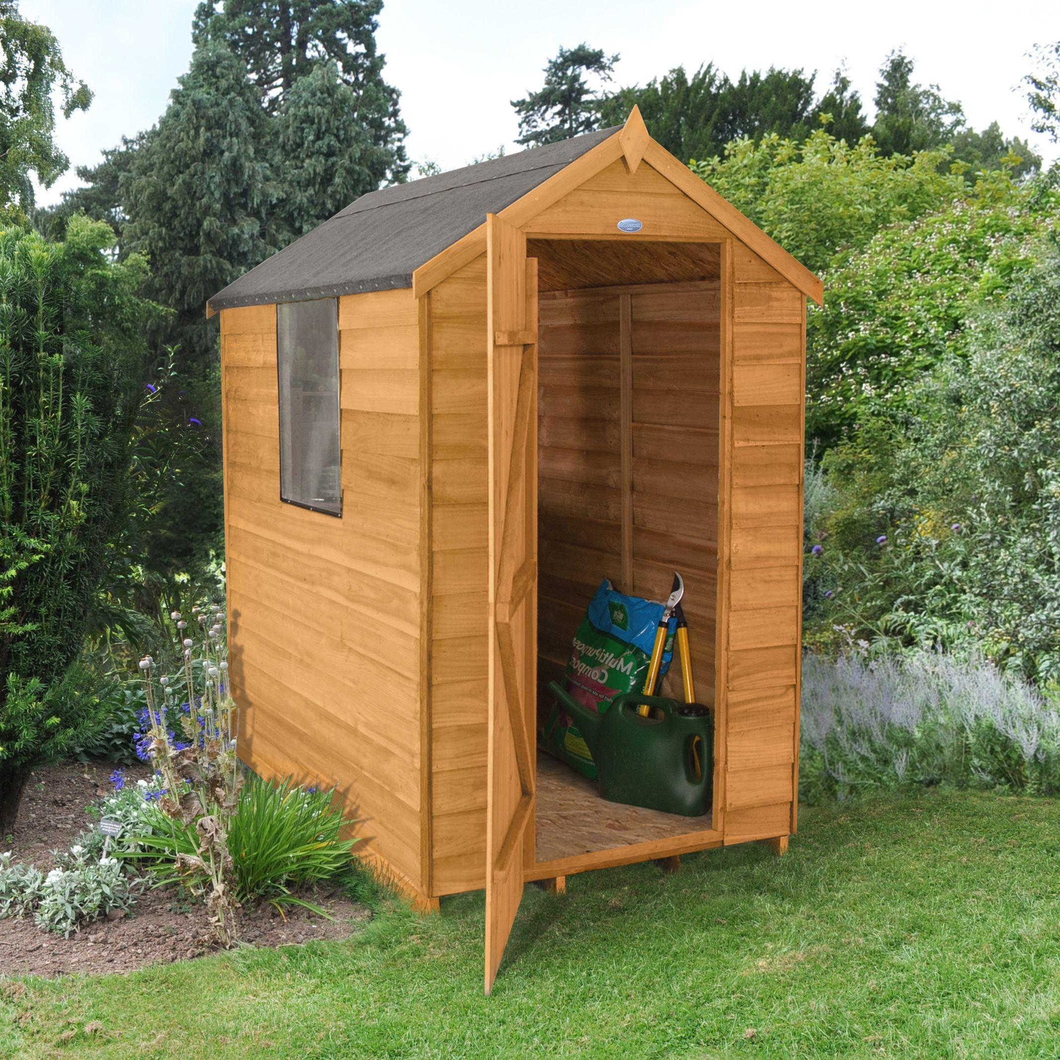 Forest Apex Overlap Wooden Shed Departments Diy