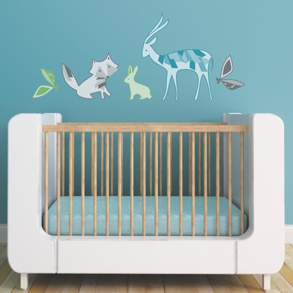 Forest Friends Fabric Reusable Childrens Wall Decals