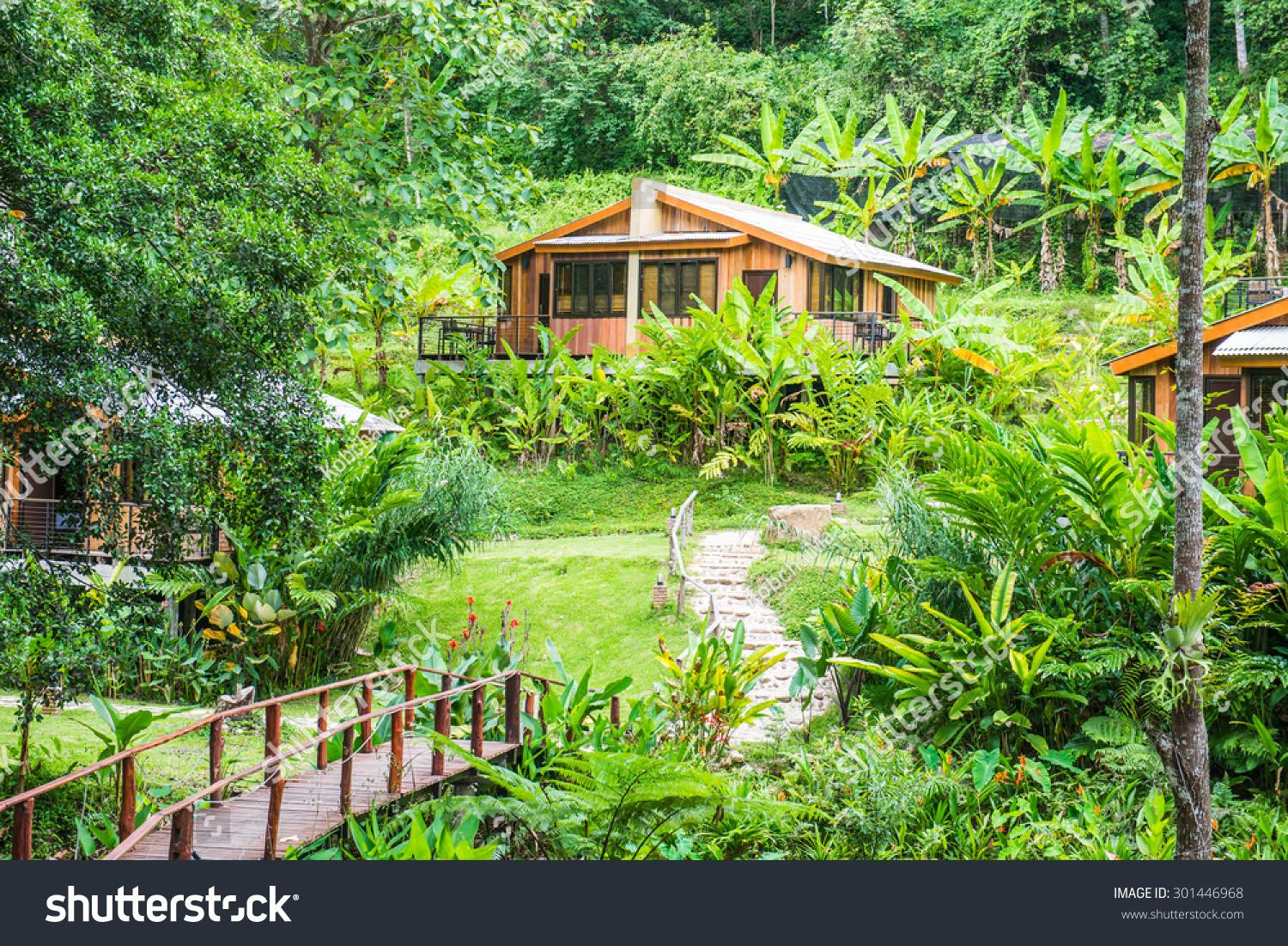 Forest Holiday Homes Country Thailand Stock