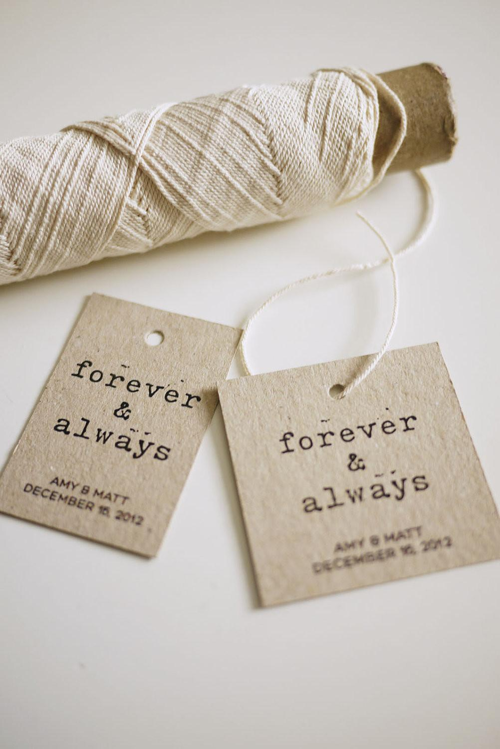 Forever Always Personalized Favor Printable