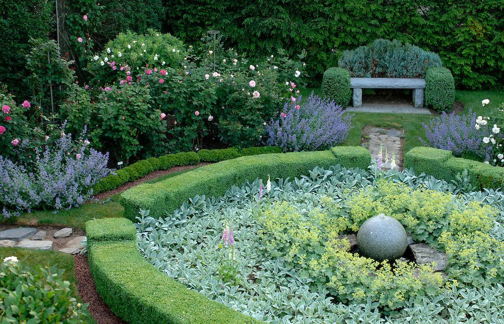 Formal Boxwood Rose Garden Stacy Bass Photography