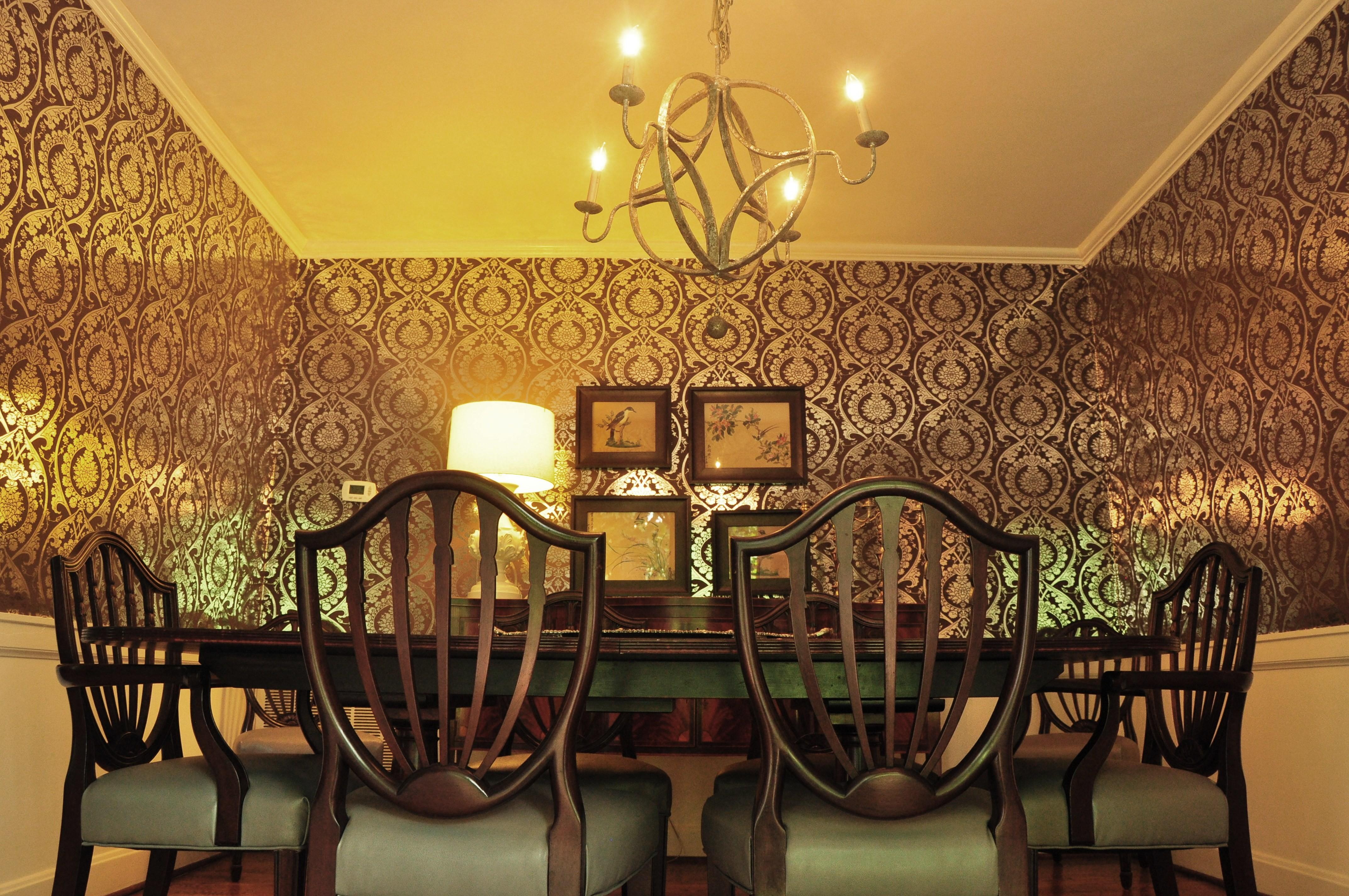 Formal Dining Room Decorating Ideas Glamour Chandelier