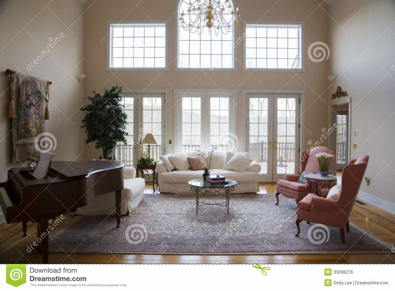 Formal Living Room Royalty Stock