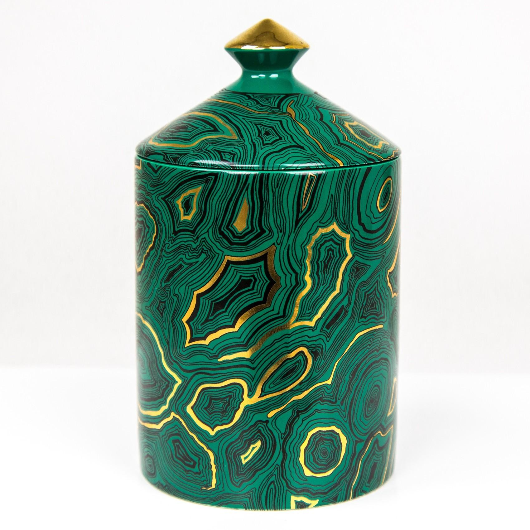 Fornasetti Malachite Candle Candles Holders