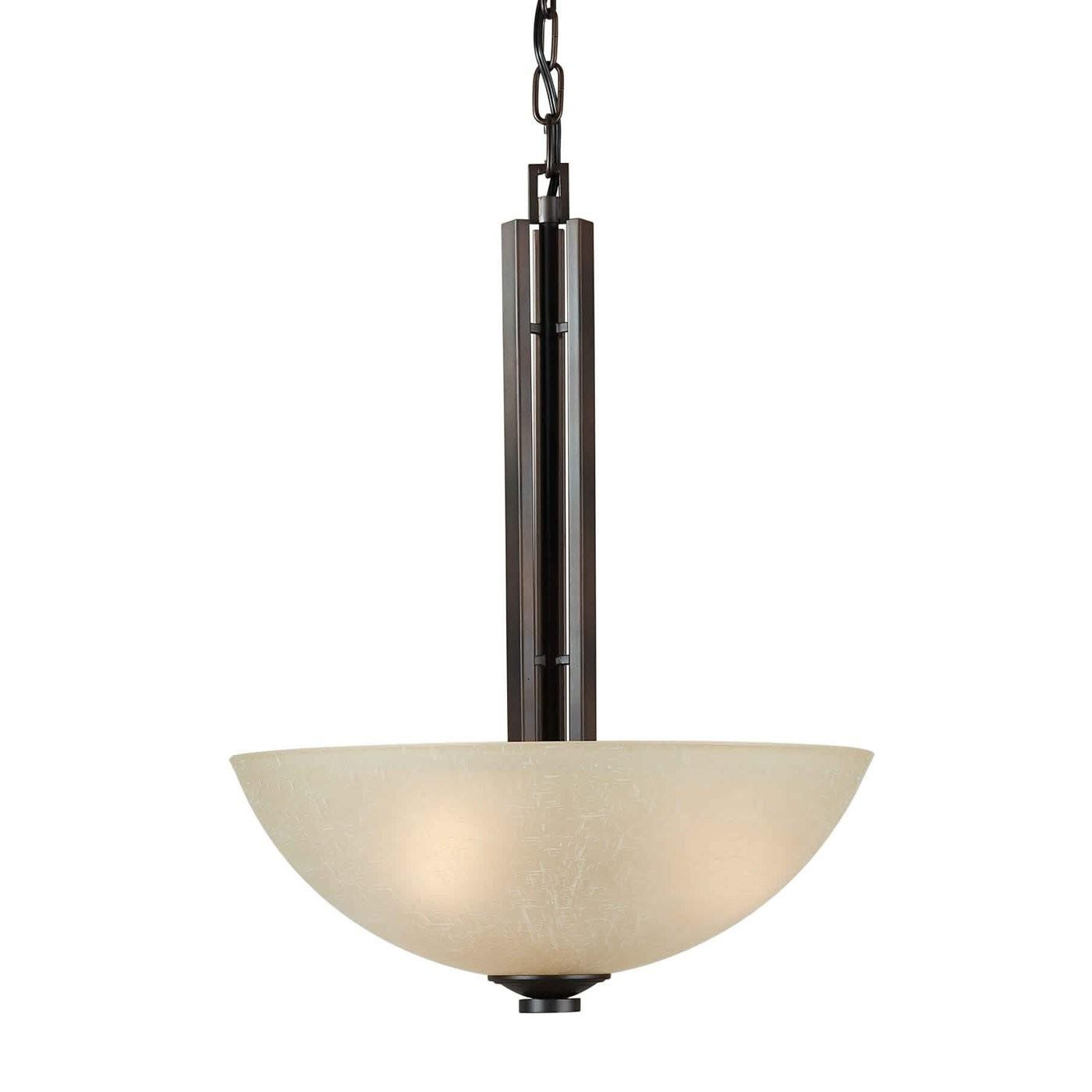 Forte Lighting Light Bowl Large Pendant Antique Bronze