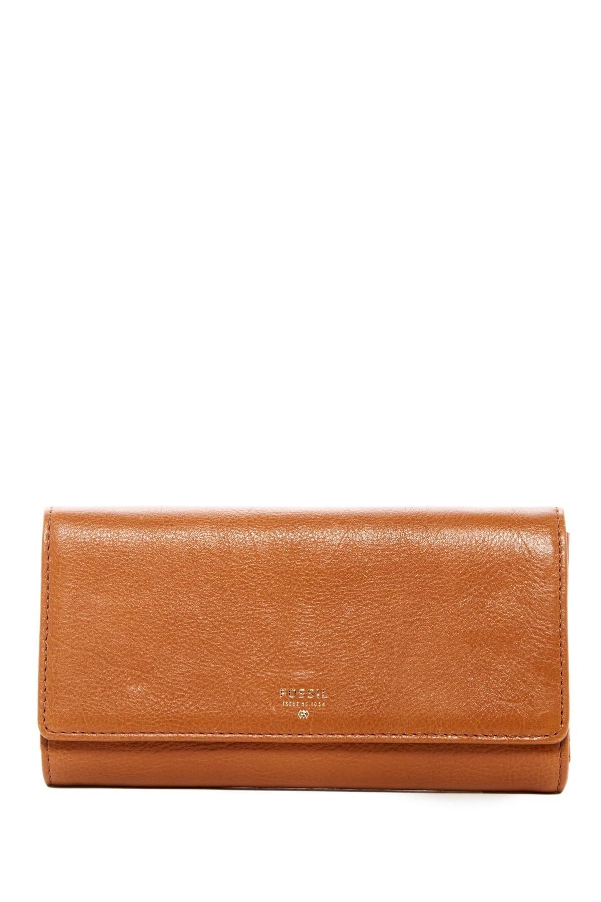 Fossil Sydney Flap Leather Clutch Nordstrom Rack