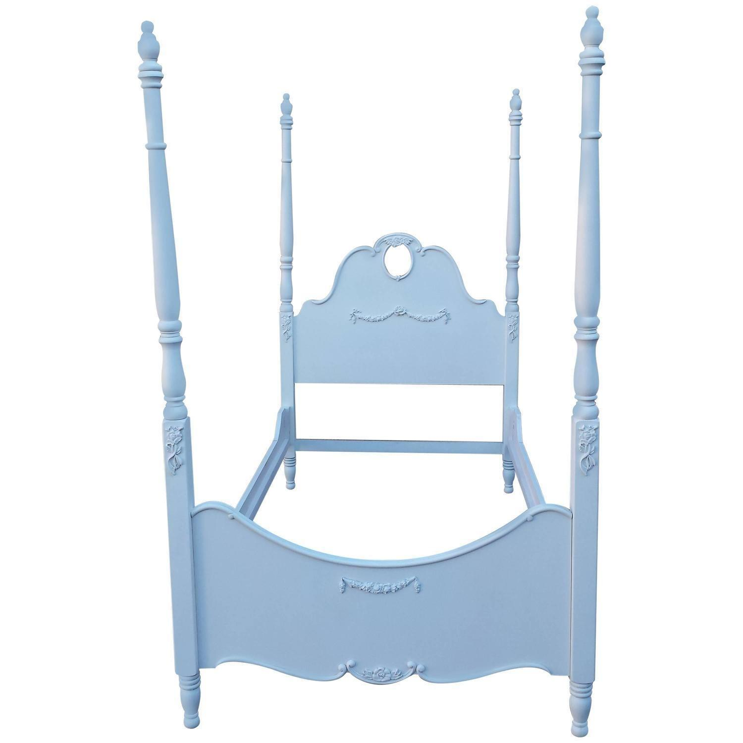 Four Poster French Style White Bed Chairish