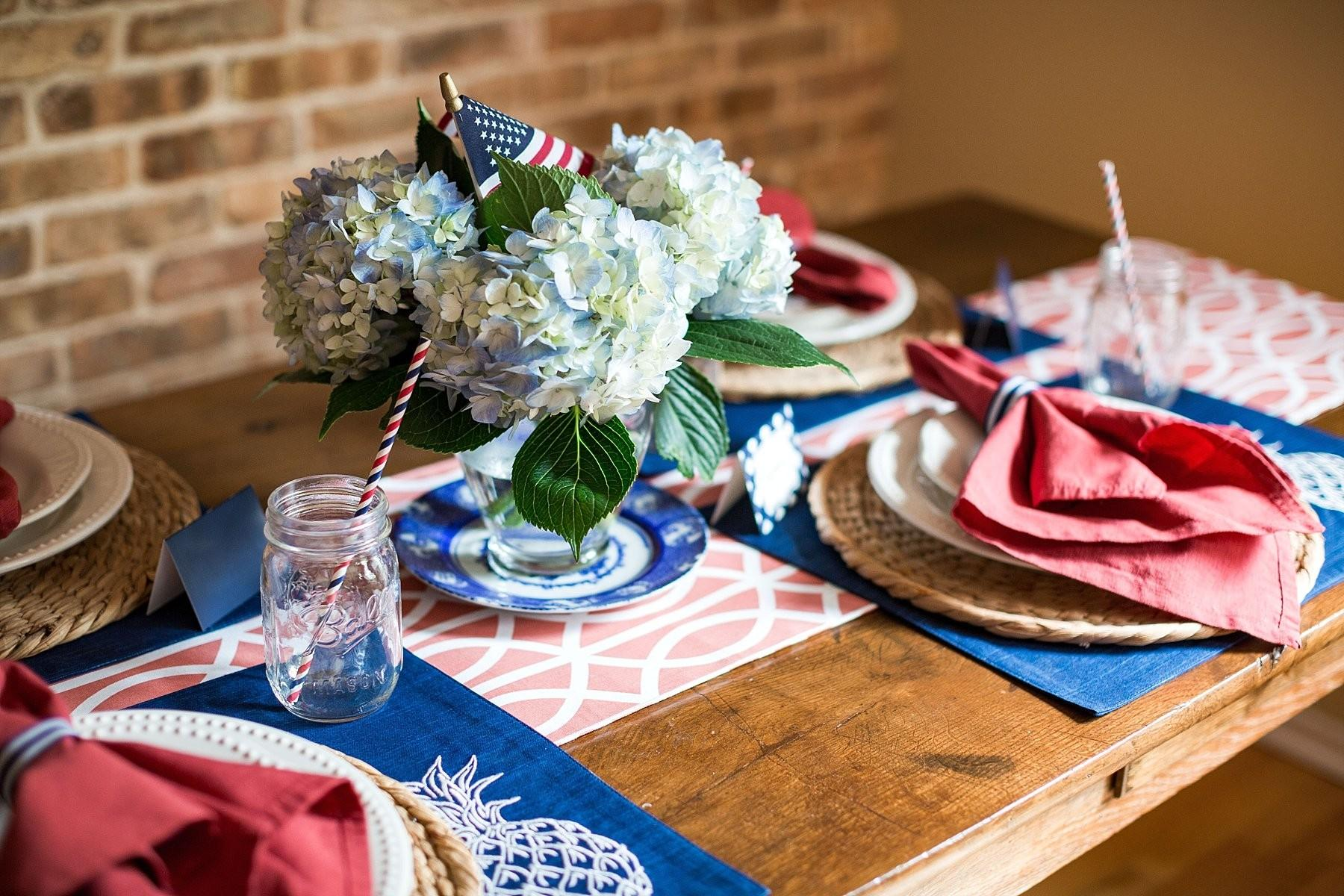 Fourth July Tablescape Ideas Stephanie Anne Photography