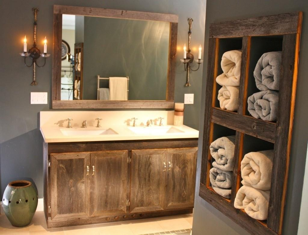 Frame Rustic Bathroom Mirrors Molding Doherty House