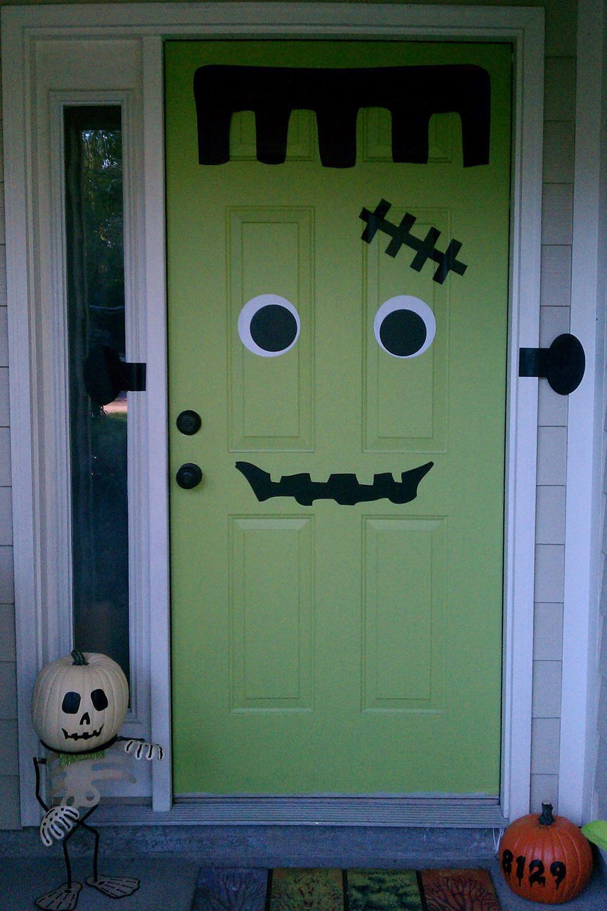 Frankendoor Halloween Decal Get Spooky Diy Decor