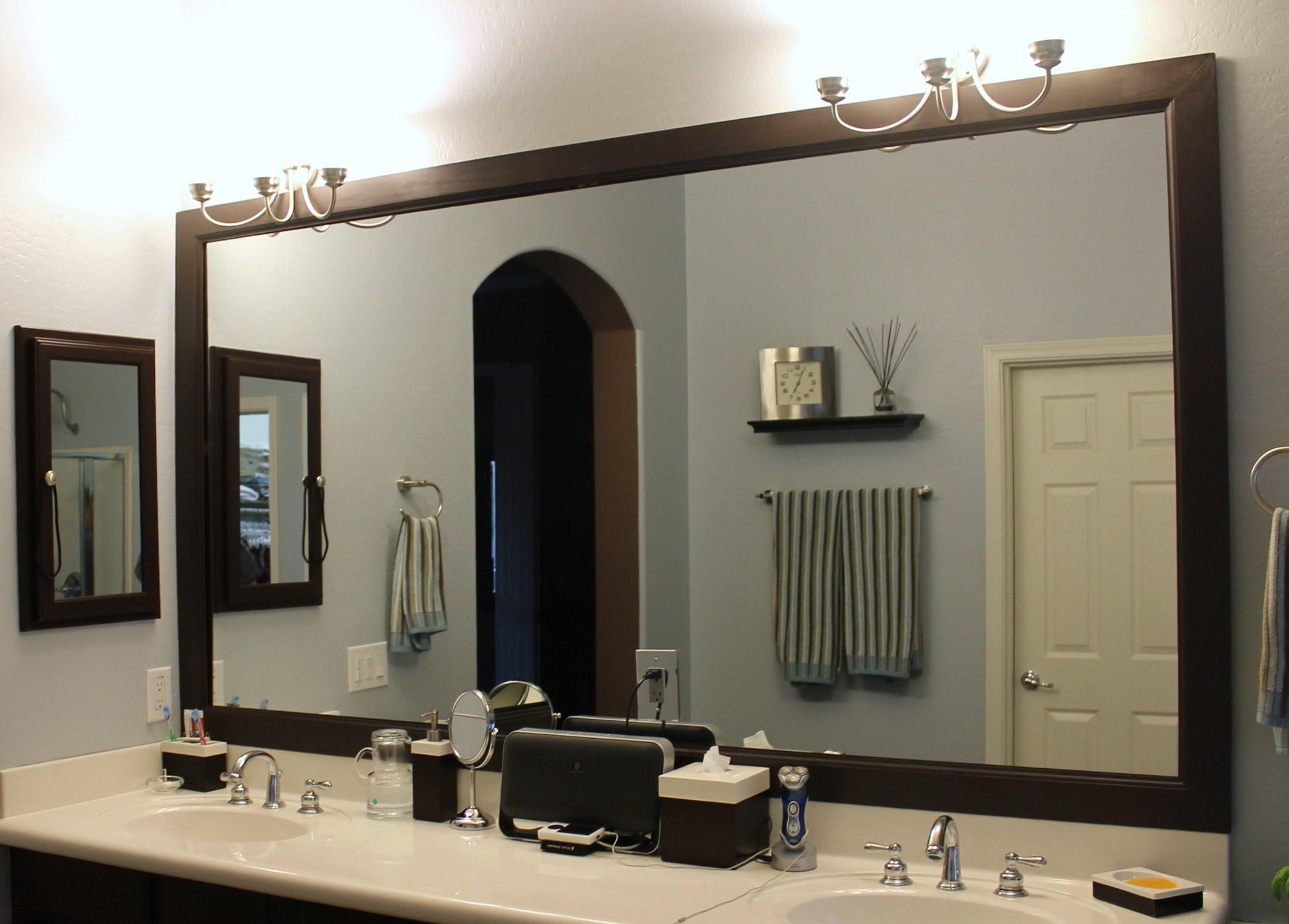 Frantic Vanity Bathroom Framed Mirrors Menards