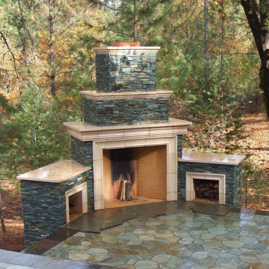 Freestanding Outdoor Fireplace Current Property