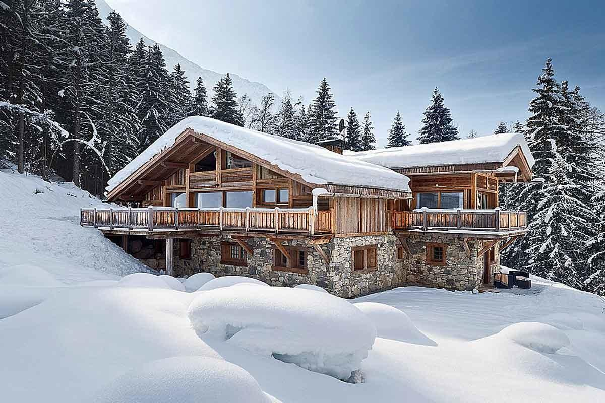 French Alps Luxury Holiday Ski Chalet Pool Rent