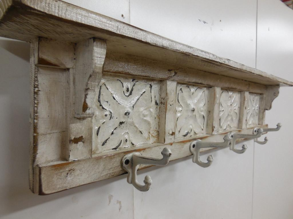 French Country Coat Rack Shabby Chic Rustic