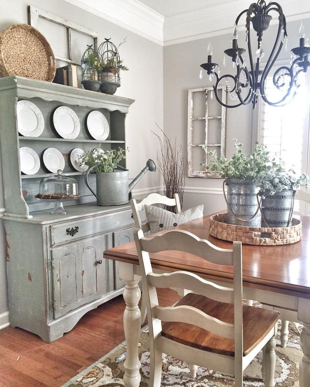 41 Lovely French Country Dining Space Decor That Will Give You