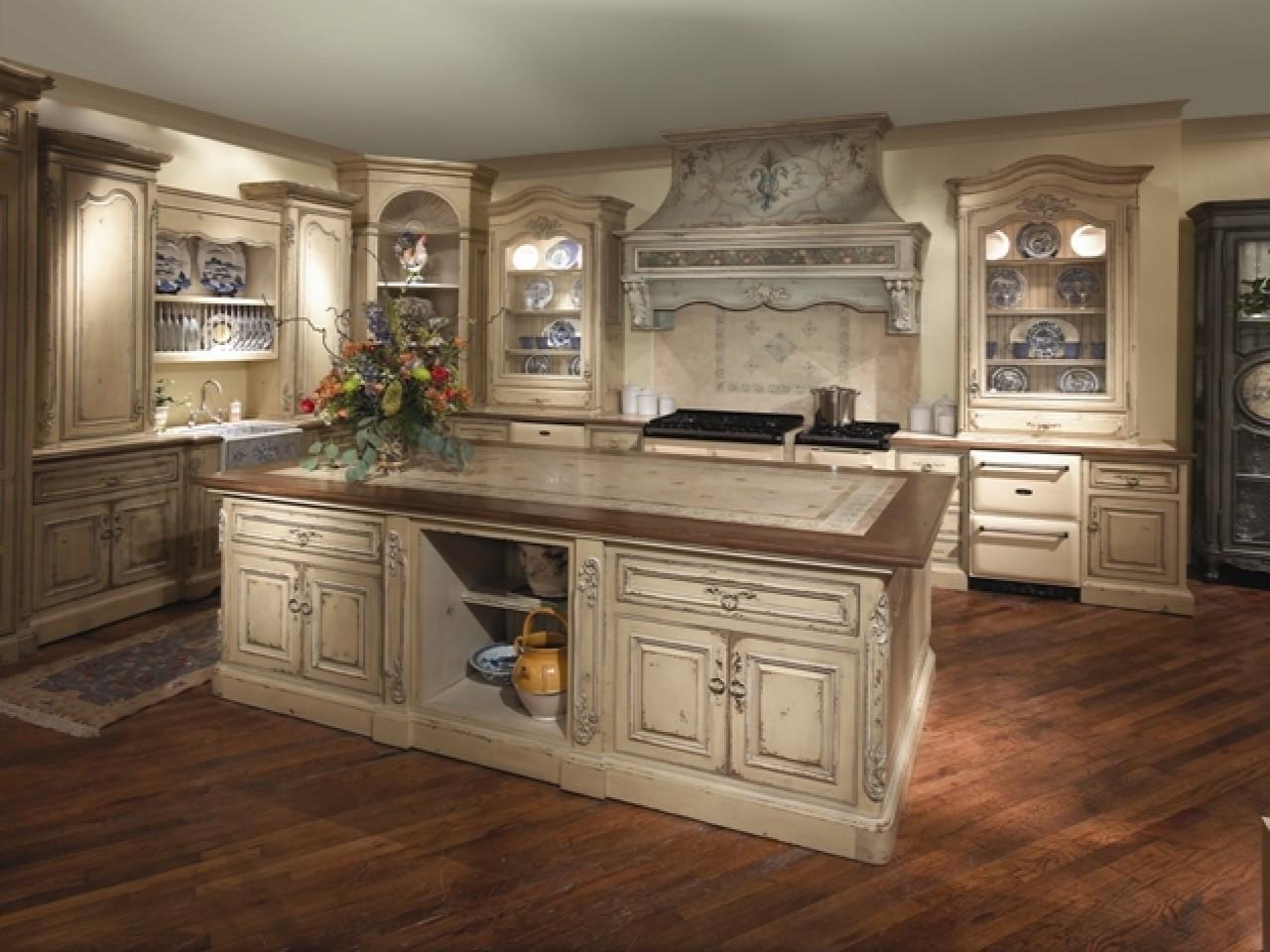 French Country Kitchens Large Kitchen