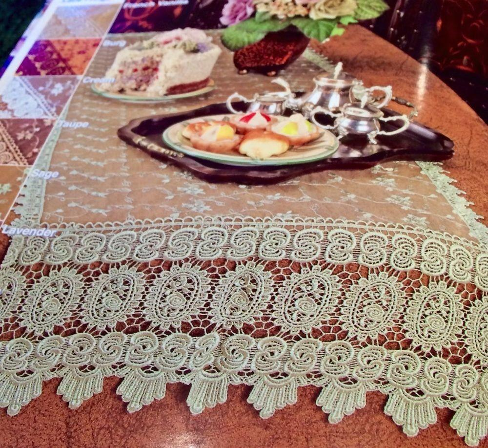 French Country Rose Macrame X60 Floral Table