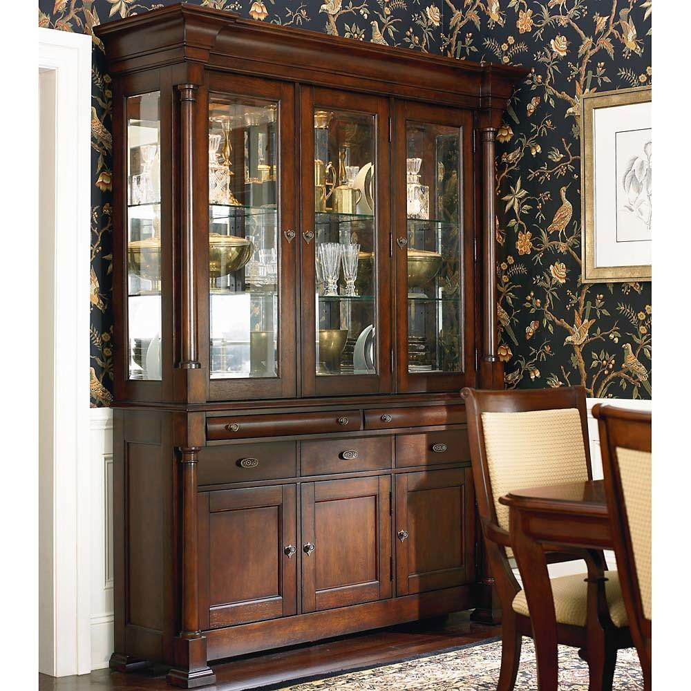 French Dining Room Cherry China Cabinet