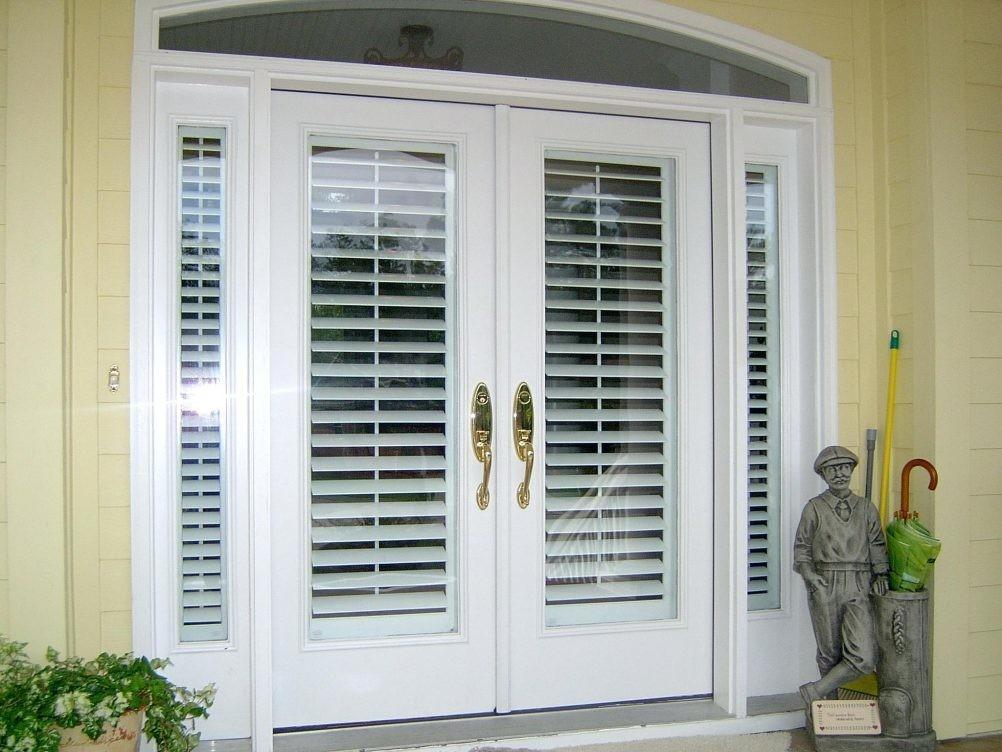 French Door Blinds Roman Shades