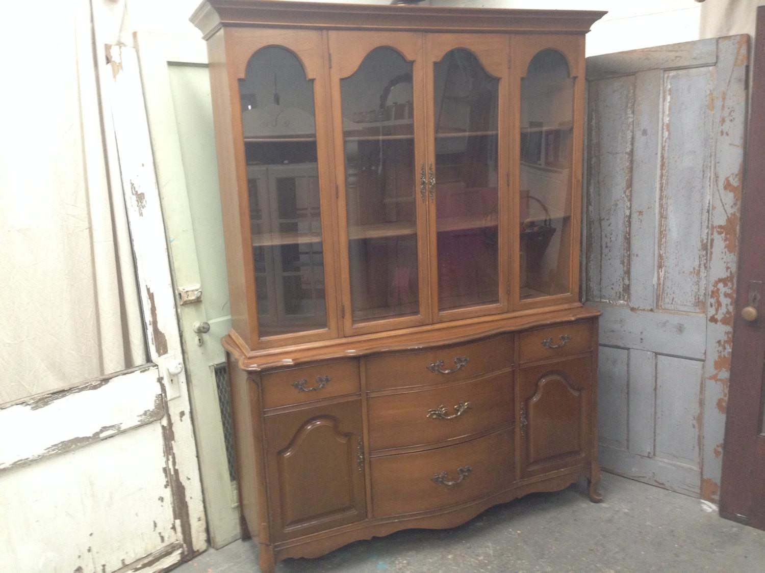 French Provincial China Cabinet Dining Room Vintagehipdecor