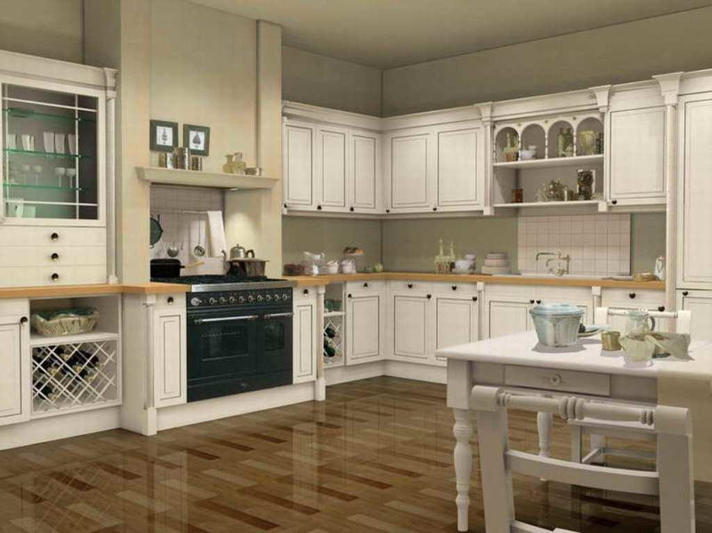 French Provincial Kitchen Decorating Ideas White