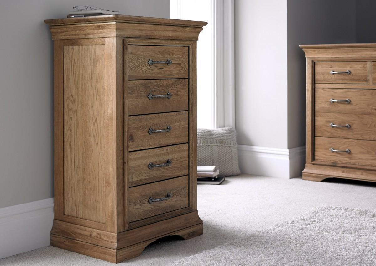 French Style Versaille Rustic Oak Drawer Wellington
