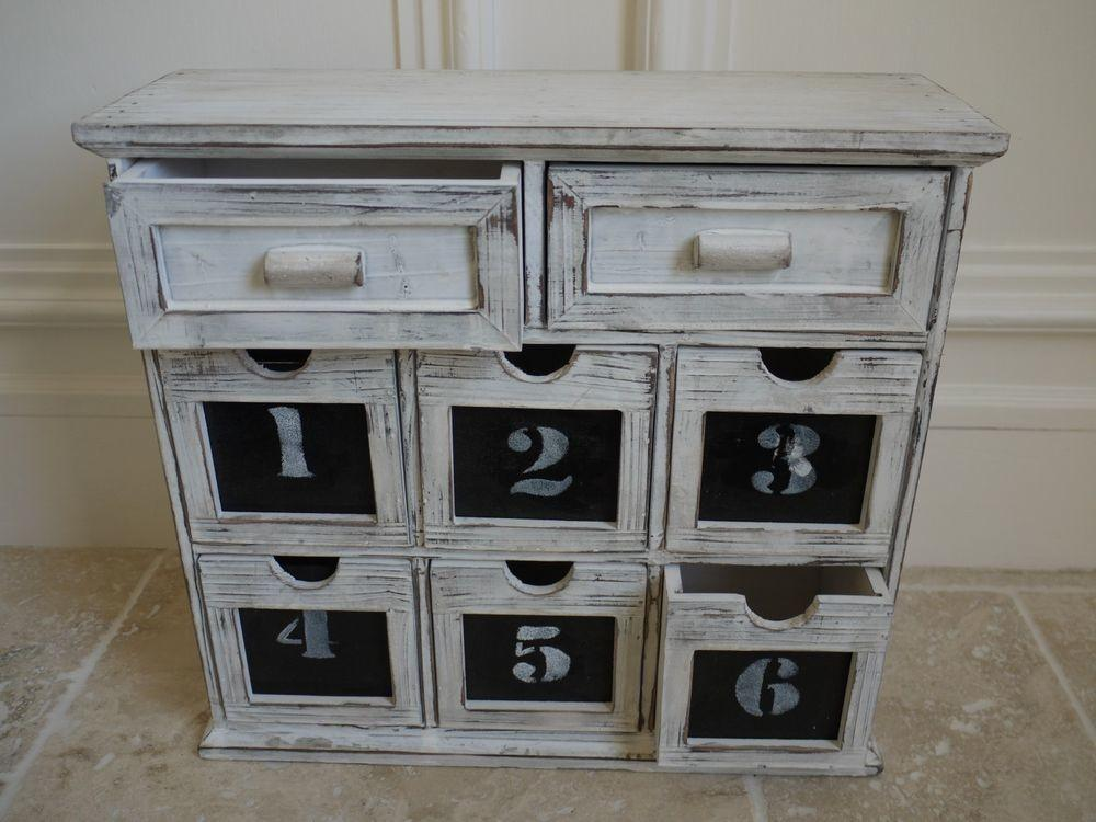 French Vintage Shabby Chic Drawer Cabinet Storage Box
