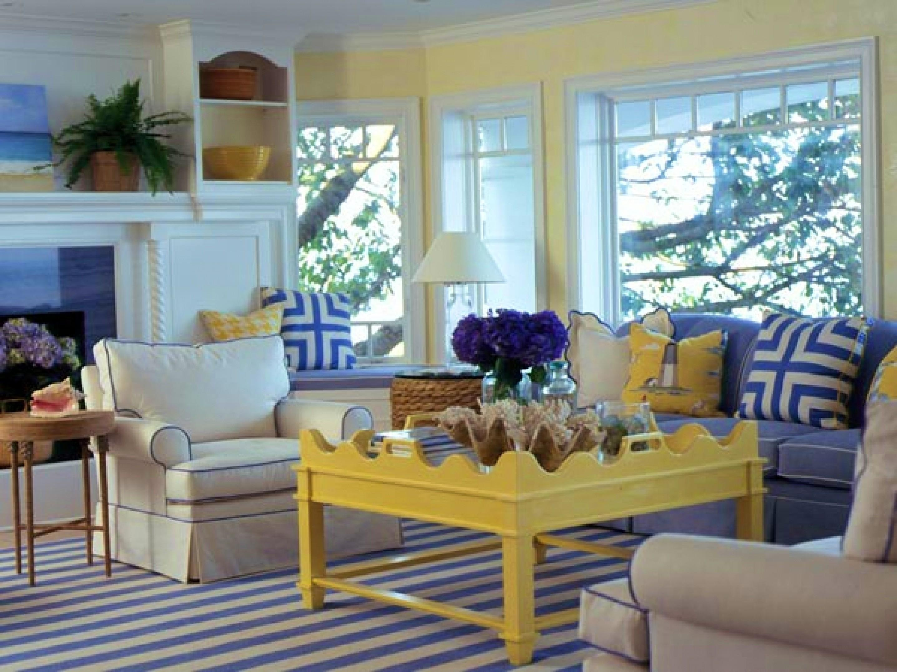 Fresh Blue Yellow Living Room Ideas Cool Home Design