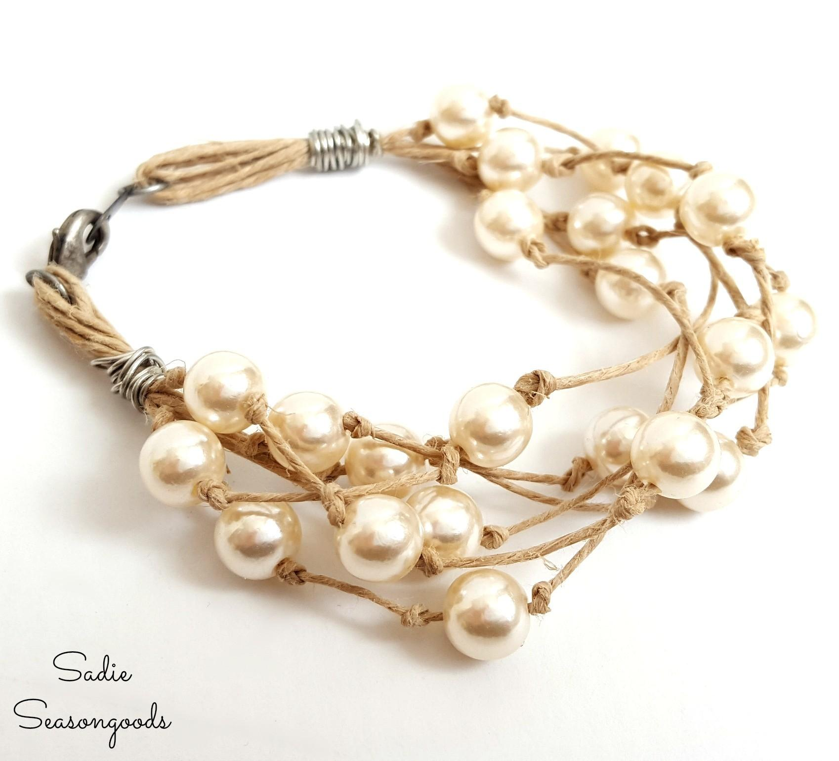 Fresh Jewelry Using Refashioned Pearls Thrift Store