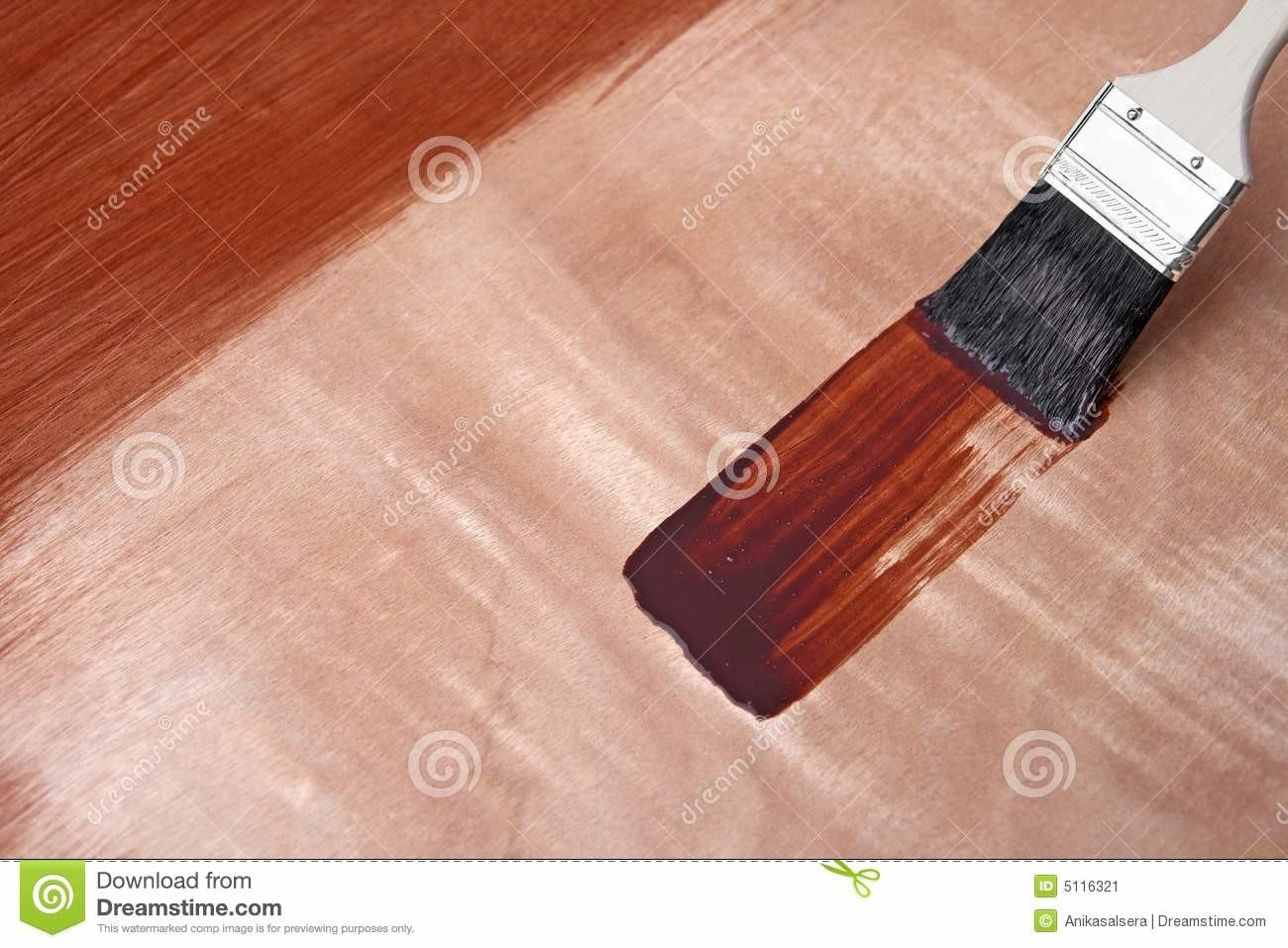 Fresh Paint Wooden Surface Stock