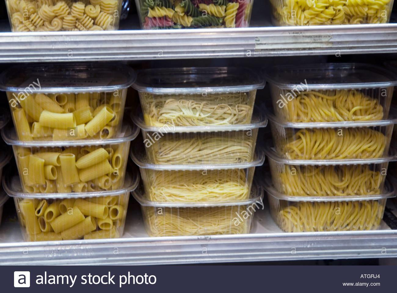 Fresh Pasta Plastic Containers Gourmet Food Store