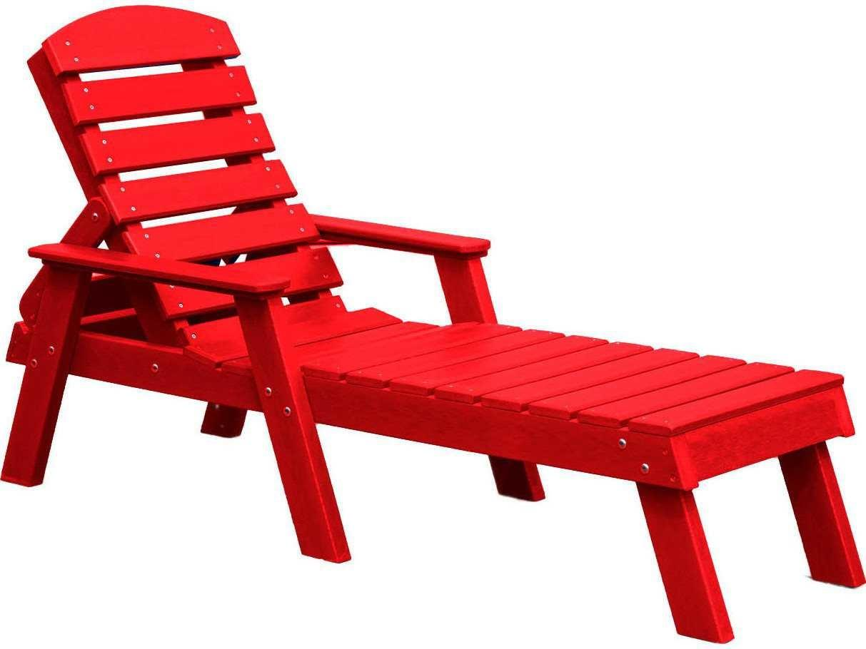 Frog Furnishings Adorondack Recycled Plastic Chaise Lounge