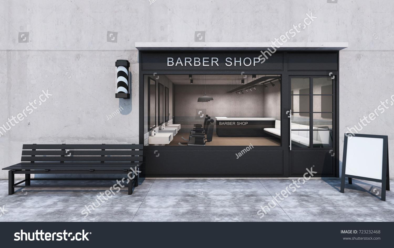 Front Barber Shop Modern Loft Stock Illustration