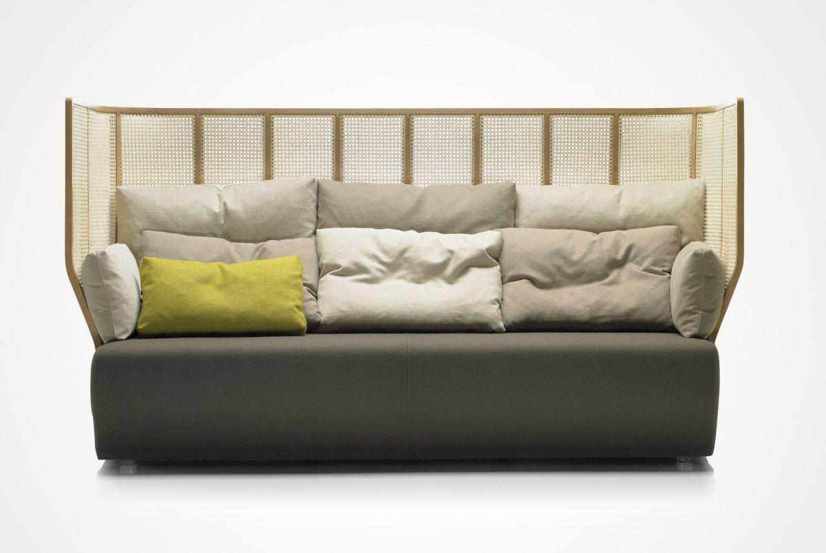 Front Big Cozy Sofa Alcove Shaped Backs