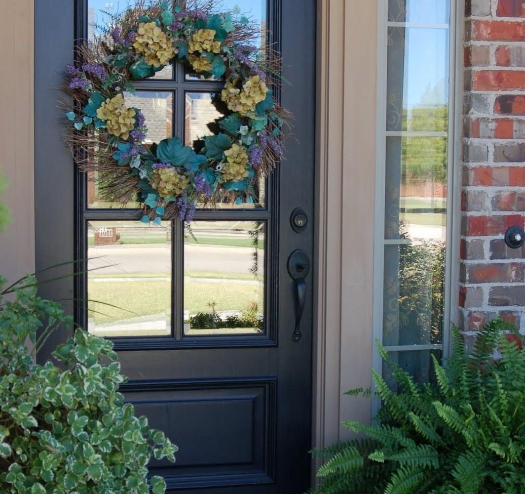 Front Door Colors Brown House Stylized Home