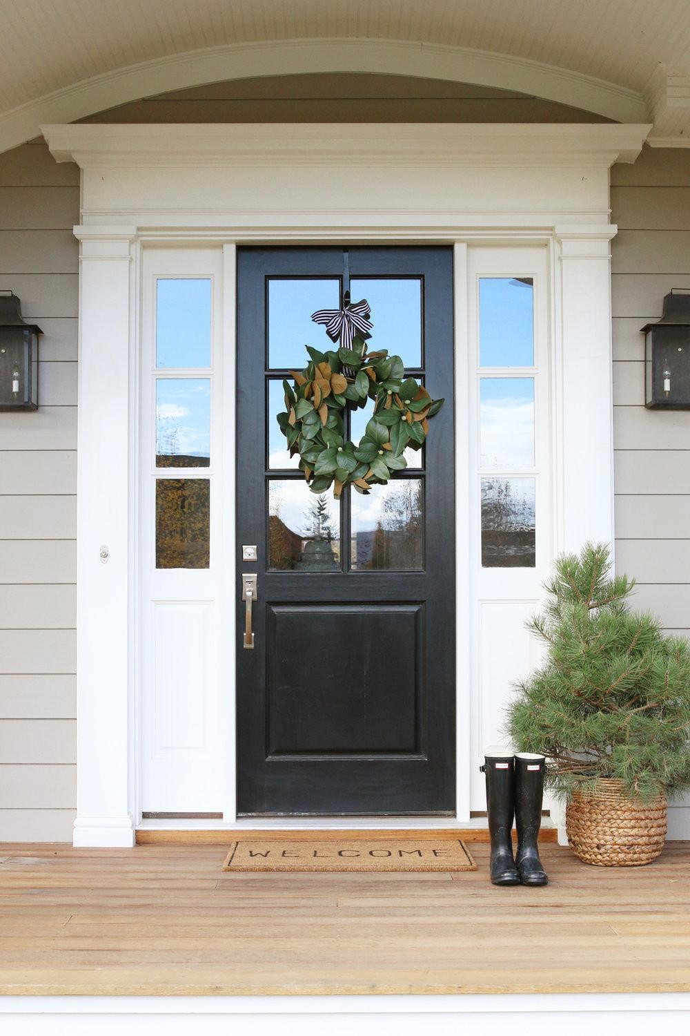Front Door Decor Magnolia Wreaths Studio Mcgee