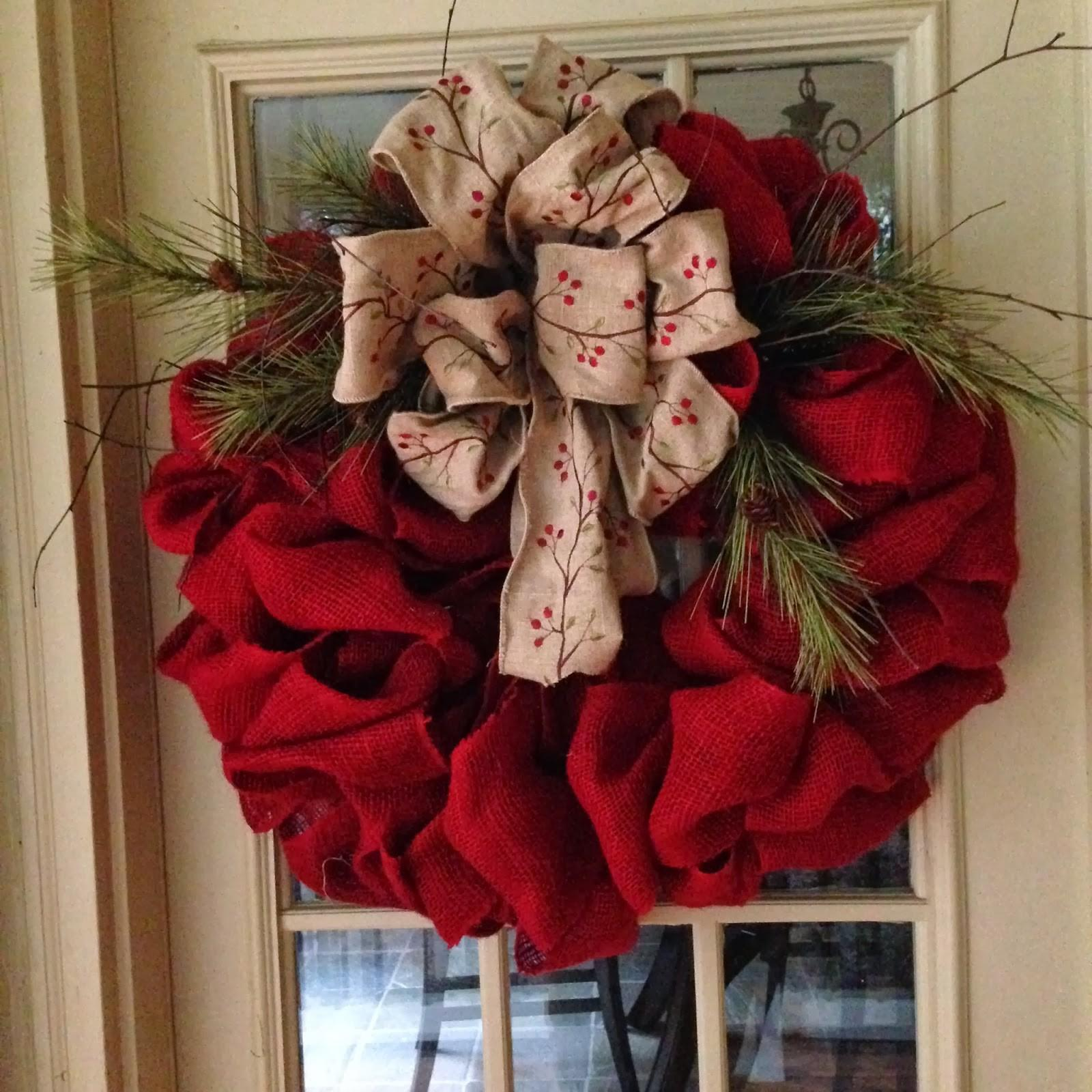 Front Door Wreaths Burlap