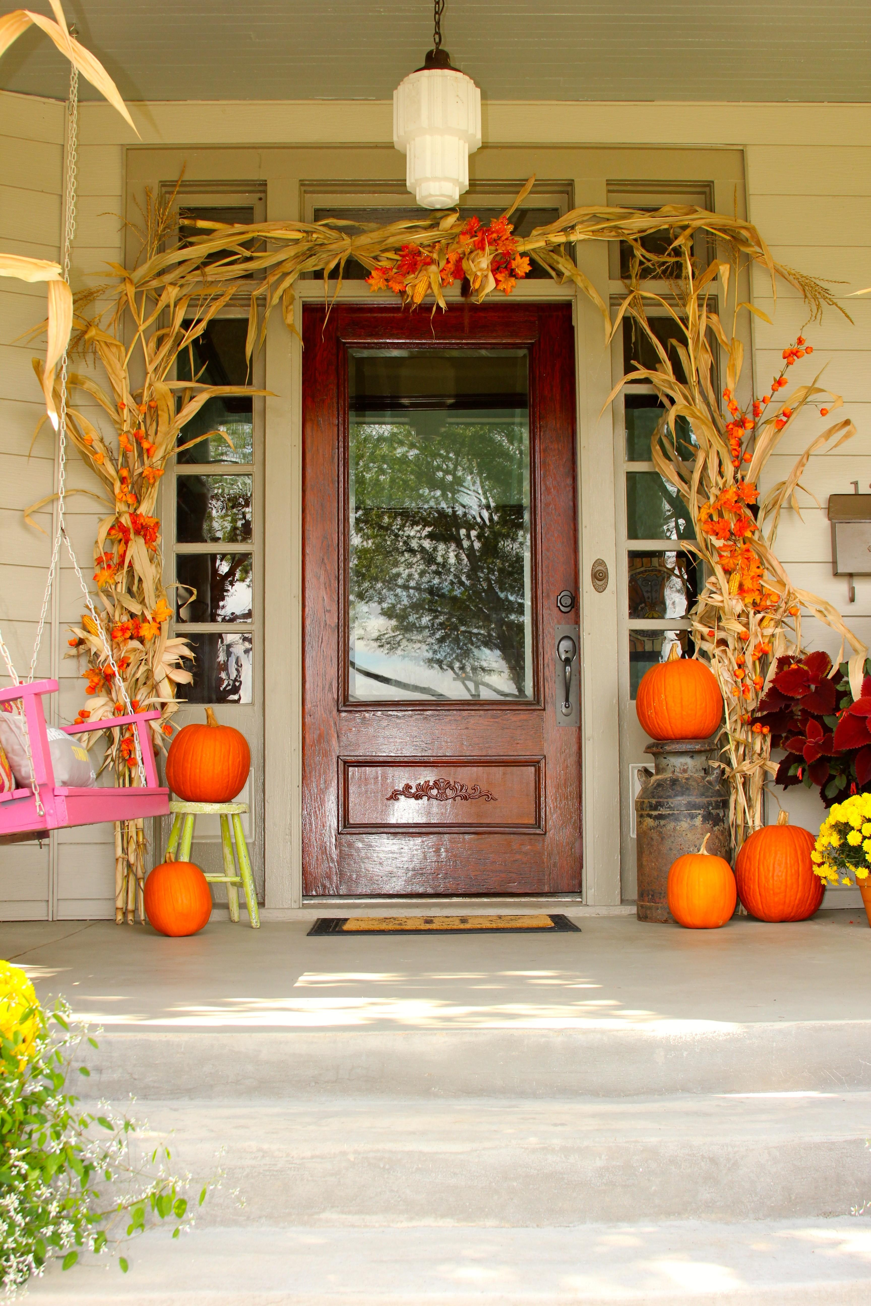 Front Porch Fall Decor Hathorn Hall Sweet Sorghum Living