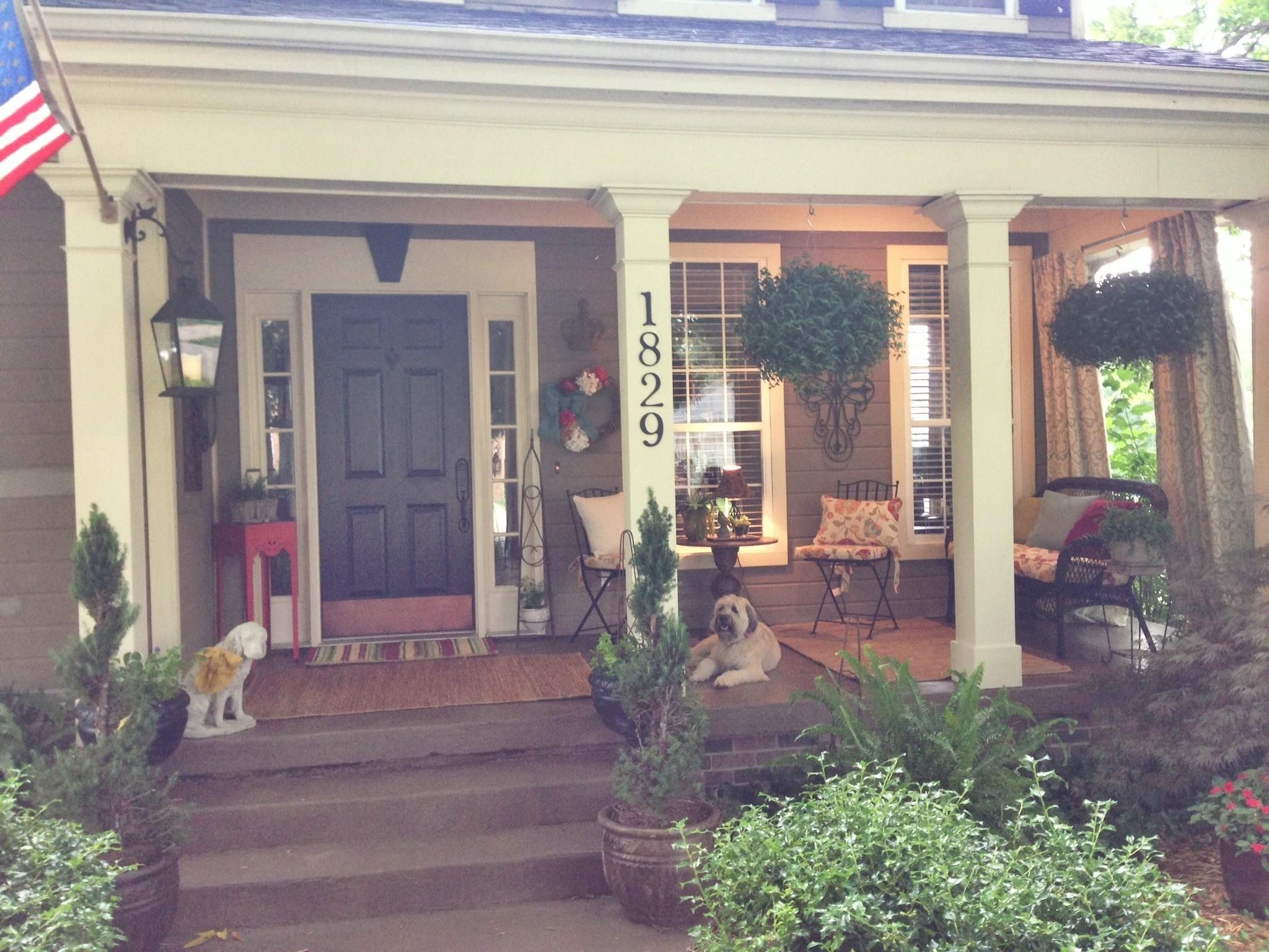 Front Porch Makeover Leaving Our Trail