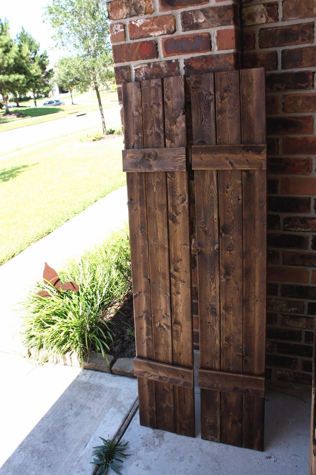 Front Porch Yours Diy Rustic Shutters New