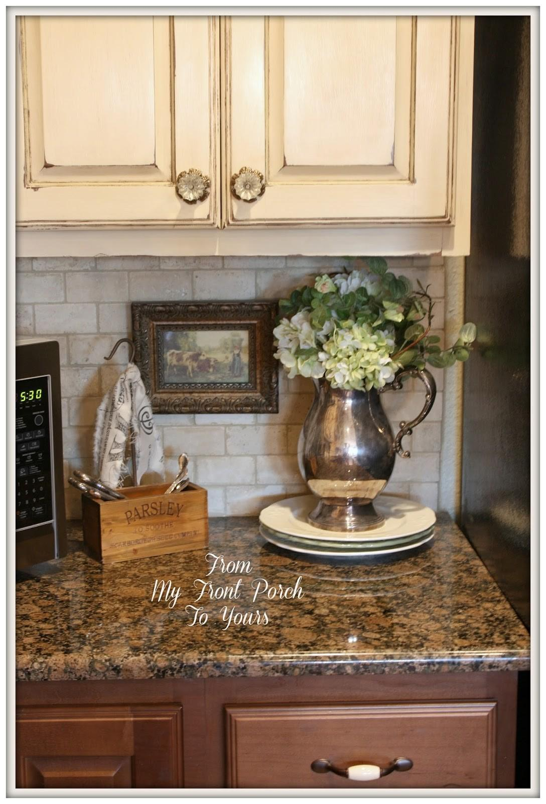 Front Porch Yours French Farmhouse Diy Kitchen