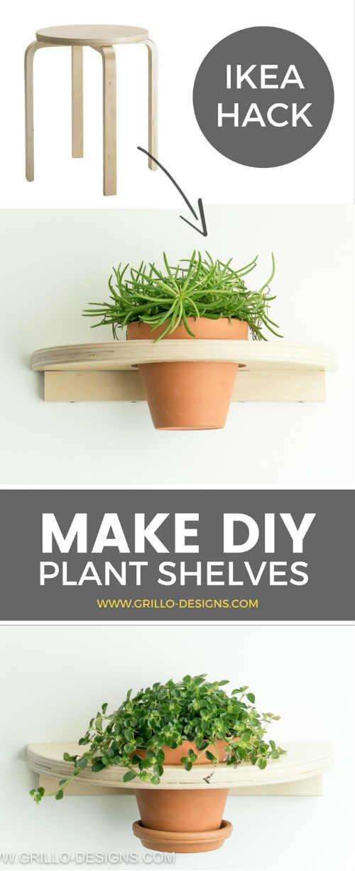 Frosta Hack Stool Diy Planter Shelf