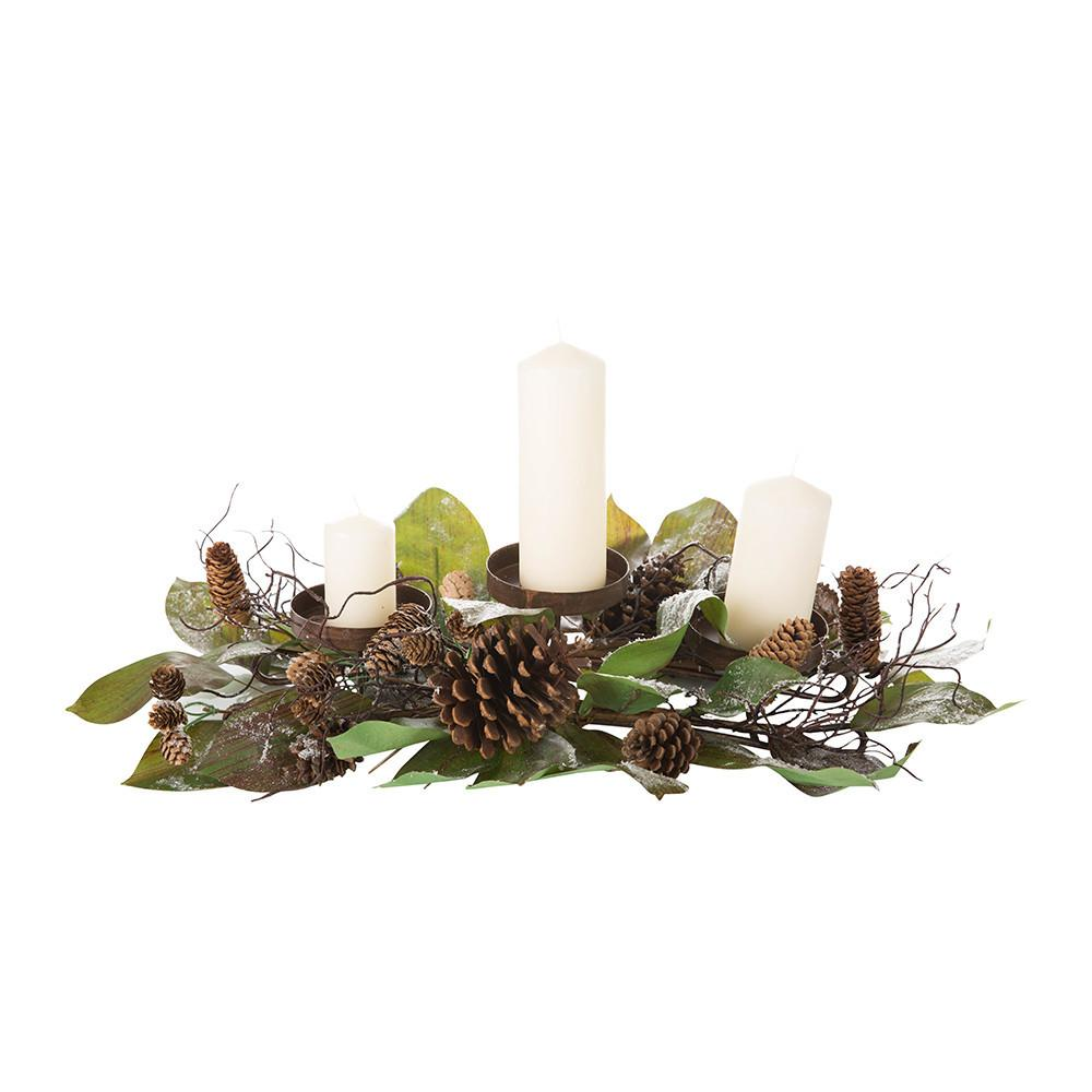 Frosted Pine Cone Candle Holder Exquisite Concierge