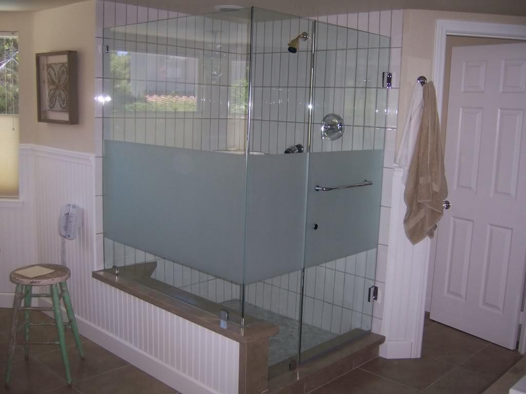 Frosted Shower Glass