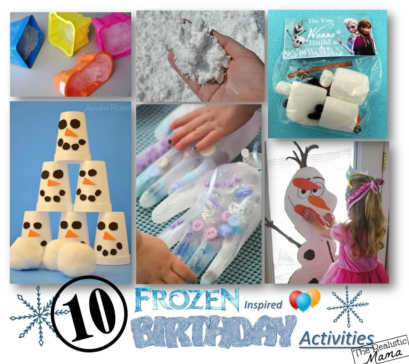 Frozen Birthday Party Activities Realistic Mama