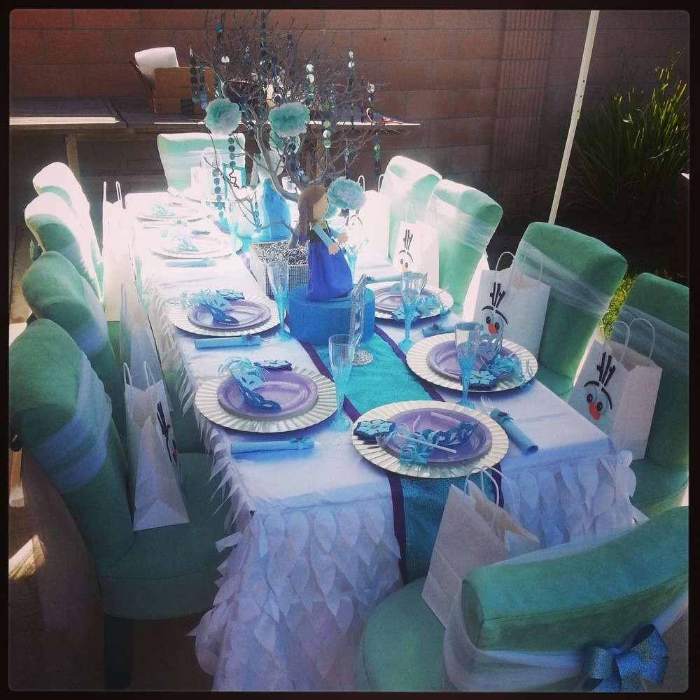 Frozen Party Table Love 2015 Halloween