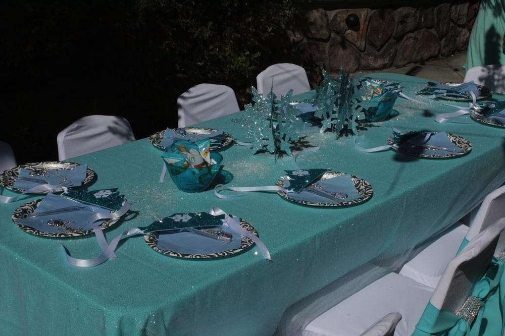 Frozen Princess Theme Birthday Party Table Set