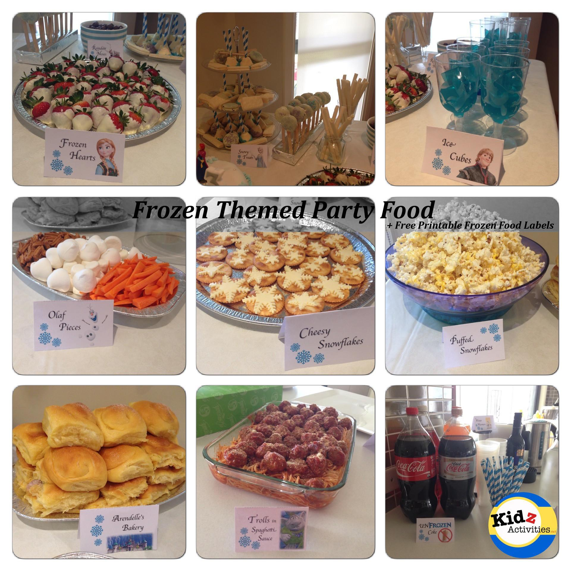 Frozen Themed Party Food Kidz Activities